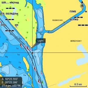Карта Днепра NAVIONICS GOLD
