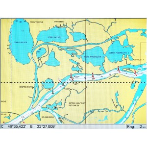 """Карта """"Днепр, Средиземное, Черное и Азовское море"""" NAVIONICS GOLD"""